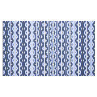 Abstract Blue White Geometric  Pattern Fabric