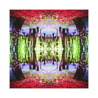 Abstract Bluebell Woods - manipulated digital art Canvas Print