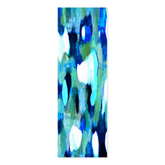 Abstract Blues Business Card Bookmarks