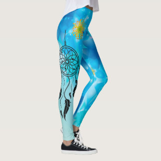 Abstract Blues Dream Catcher Leggings
