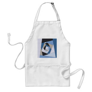 Abstract Blues Geometric Layers Standard Apron