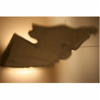 Abstract blur of brown tints cut out