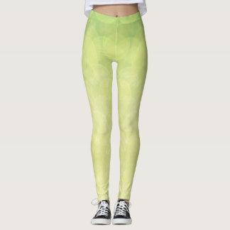 Abstract bokeh green lime texture leggings