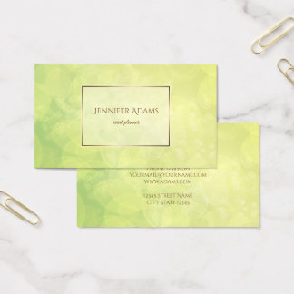Abstract bokeh green lime texture.text. business card