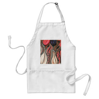 ABSTRACT BOLD TULIPS APRON