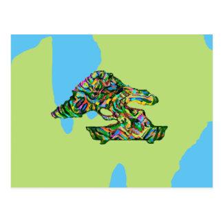Abstract Bonsai Art Postcard