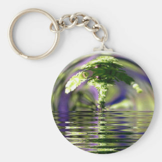 Abstract Bonsai Globe Key Ring