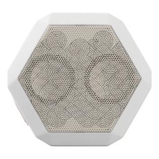 Abstract border white boombot rex bluetooth speaker