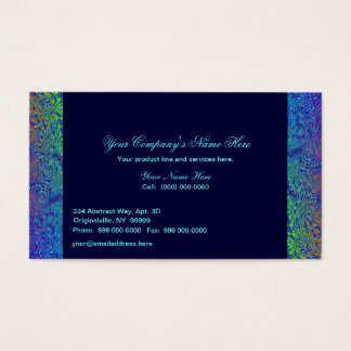 Abstract Borders in Blue Tones Business Card