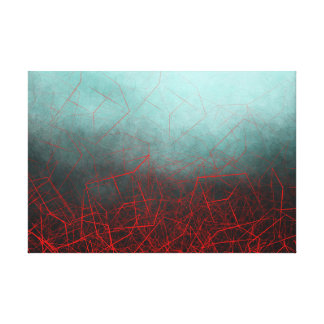 Abstract Boxes Underwater - Canvas Print