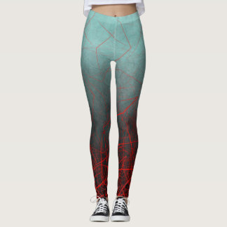 Abstract Boxes Underwater - Leggings