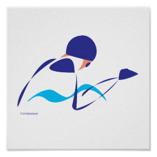 Abstract Breaststroke 1 Poster