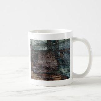 Abstract Bridge Destroyed End of Days Basic White Mug