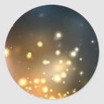 Abstract Bright Glow Round Stickers