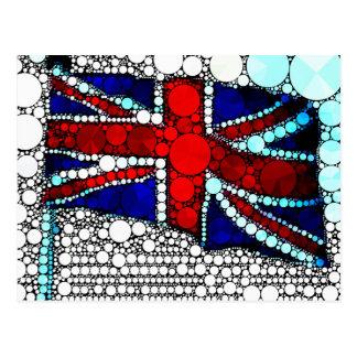 Abstract British Flag Postcard