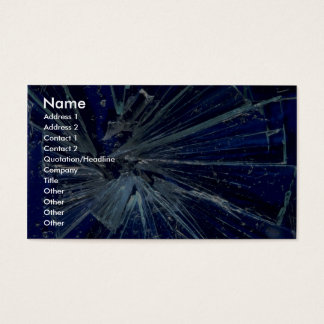 Abstract Broken glass Business Card