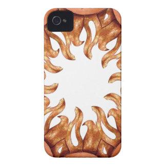 Abstract Bronze Sun Kaleidoscope iPhone 4 Case