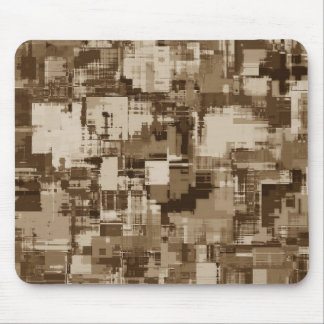 Abstract Brown Camo pattern Mouse Pad