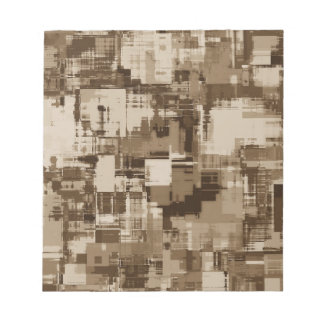 Abstract Brown Camo pattern Notepad