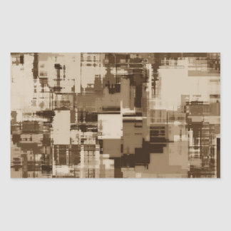 Abstract Brown Camo pattern Rectangular Sticker