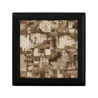 Abstract Brown Camo pattern Small Square Gift Box