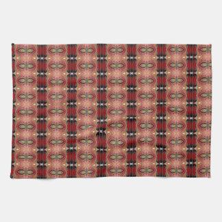 Abstract Brown Geometric Art Pattern Hand Towel