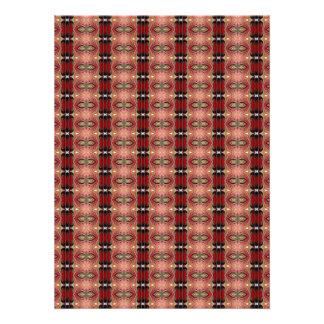 Abstract Brown Geometric Art Pattern Invite