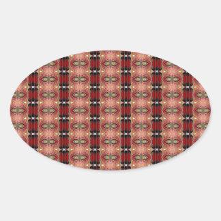 Abstract Brown Geometric Art Pattern Sticker