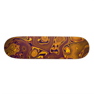Abstract Brown & Gold Skateboards