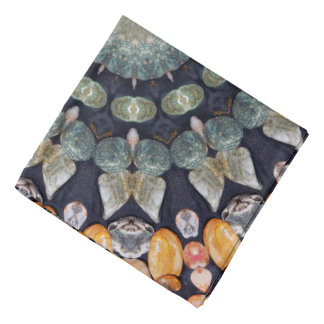 Abstract Brown Kaleidoscope Head Kerchiefs