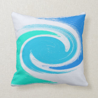 abstract brush strokes swirl texture cushion