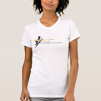 Abstract Brushstroke Mascara Wand Makeup Artist T-Shirt