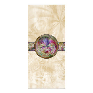 Abstract Bubble Mandala With Ribbon Personalised Rack Card