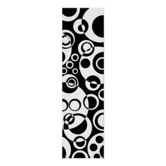 Abstract Bubbles 01 - B&W Poster