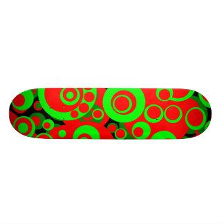 Abstract Bubbles 05 - Retro Custom Skateboard
