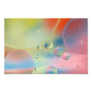 Abstract Bubbles Fine Art Print