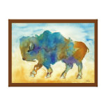 Abstract Buffalo Stretched Canvas Print