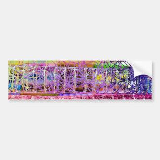 Abstract Bumper Sticker