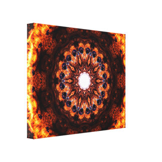 Abstract Burning Canvas Print