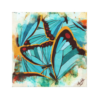 Abstract Butterflies 1 Canvas Print