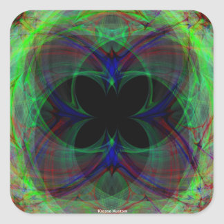 Abstract Butterfly 2 Square Sticker