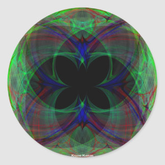 Abstract Butterfly 2 Classic Round Sticker