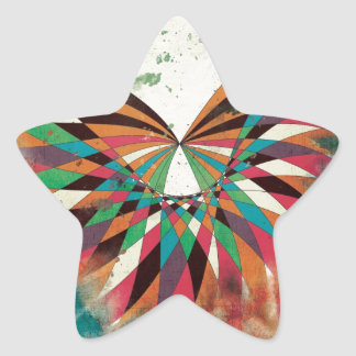 Abstract butterfly 2 star sticker