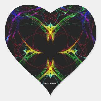 Abstract Butterfly 3 Heart Sticker