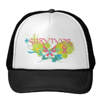 Abstract Butterfly Breast Cancer Survivor Mesh Hat