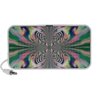 Abstract Butterfly Doodle Speaker