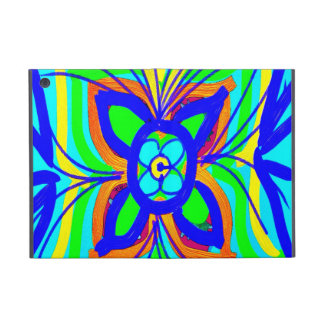 Abstract Butterfly Flower Kids Doodle Teal Lime Covers For iPad Mini