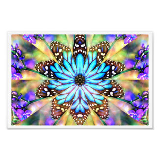 Abstract Butterfly Flower Photo Art