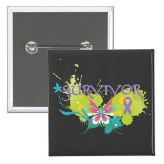 Abstract Butterfly Hodgkin's Lymphoma 15 Cm Square Badge