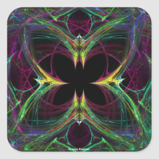 Abstract Butterfly Square Sticker